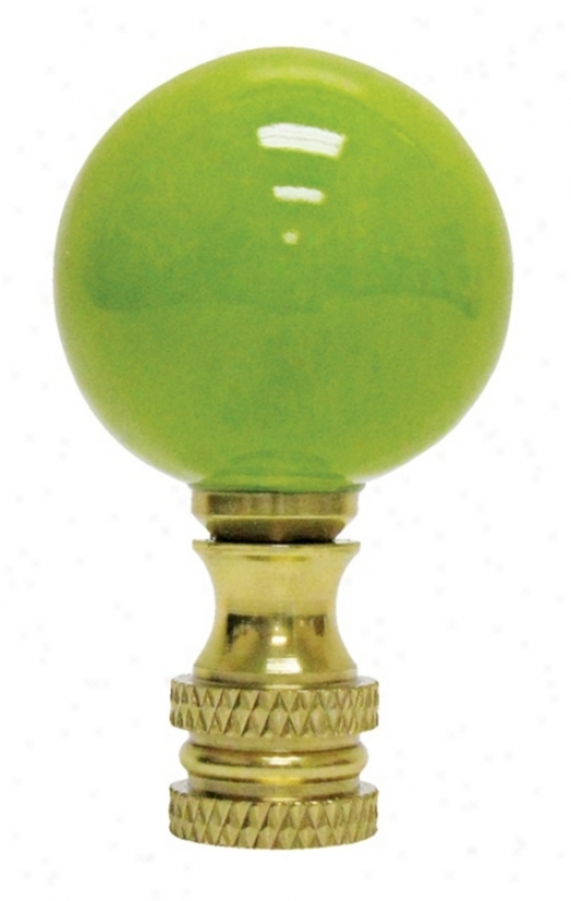 Kiwi Green Ceramic Ball Finial (02103)