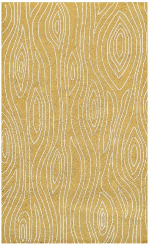Knots Yellow Indoor Outdoor Rug (k0176)
