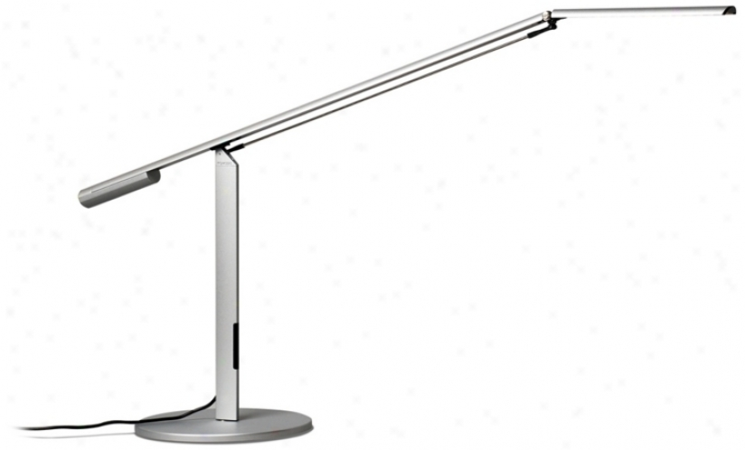 Koncept Gen 3 Equo Warm Light Led Modern Desk Lamp Silver (r5792)