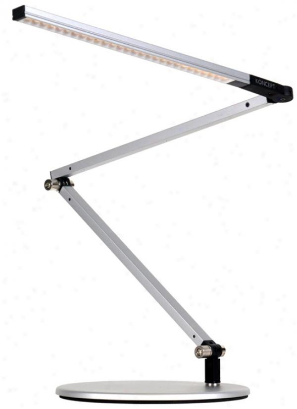 Koncept Gen 3 Z-bar Mini Daylight Led Desk Lamp Silver (v6900)