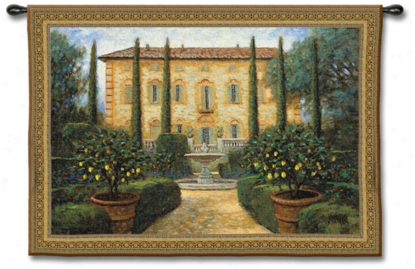 "La Villa 53"" Wide Wall Tapestry (j8695)"