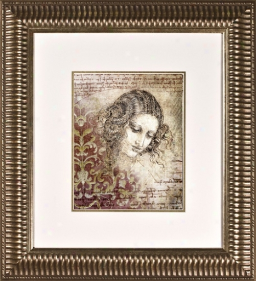 "Ladies Of Eelgance Ii Print Under Glass 21"" High Wall Art (h1903)"