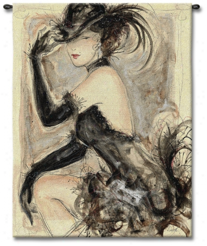 """Lady Caberet 53"""" High Wall Tapestry (j8687)"""