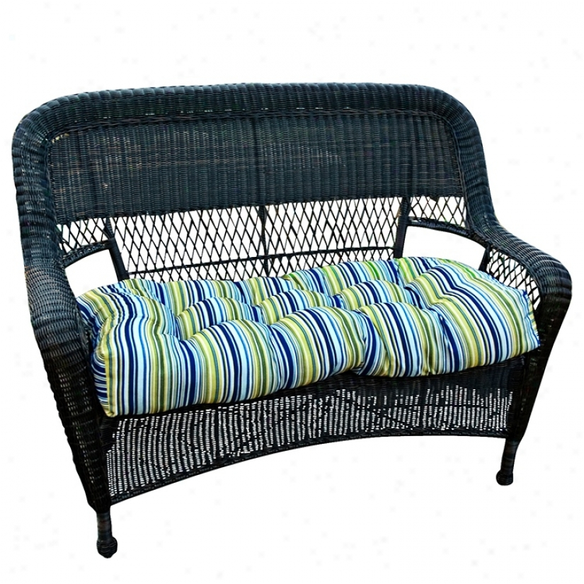 "Lagoon Stripe 42"" Wide Outroor Settee Cushion (w6255)"