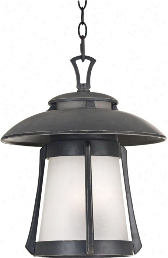 """Laguna Collection Ebony Pearl 17"""" High Outdoor Hanging Light (45009)"""