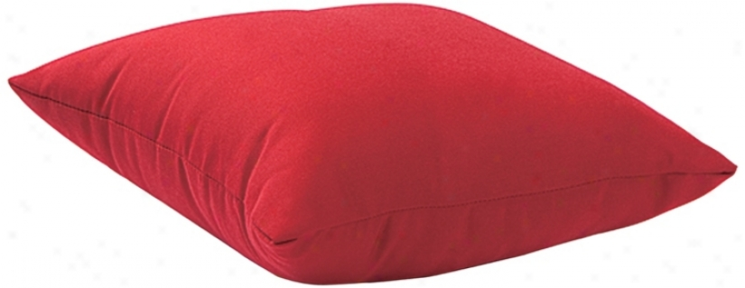 Laguna Red 18&quot ;Square Exterior Pillow (r8262)