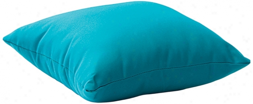"""Laguna Sky Blue 18"""" Square Outdoor Pillow (r8257)"""
