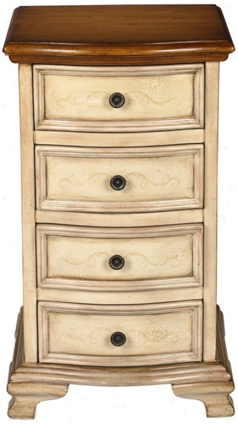 Lancy Two-tone Wood Chest Of Drawers (u2799)
