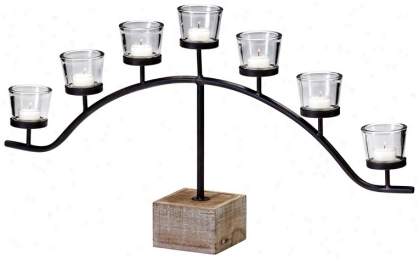 Laredo Bronze Iron Tealight Taper Holder (v0529)