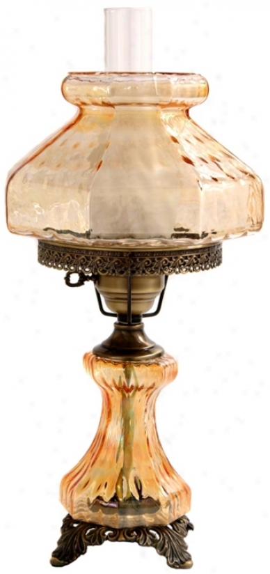 Large Amber Rhombus Darkness Light Hurricane Synopsis Lamp (f7948)