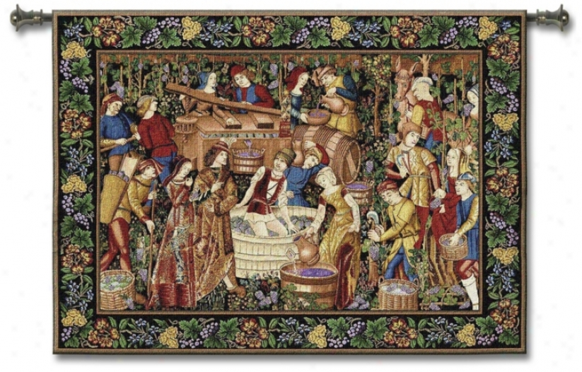 "Recently Harvest 75"" Wide Wall Tapestry (j8678)"