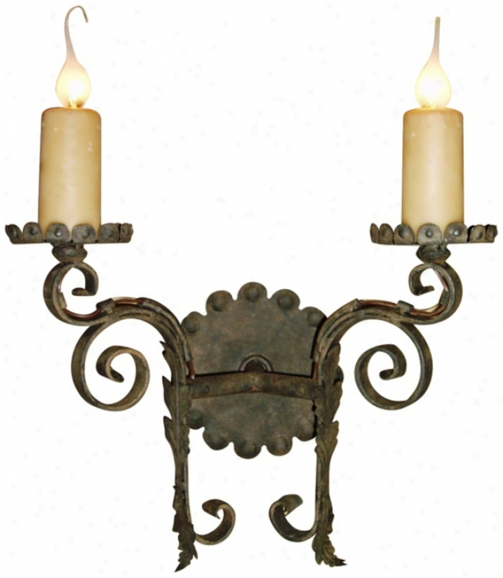 "Laura Lee Cortona 2-light 16"" Wide Wall Sconce (t2425)"