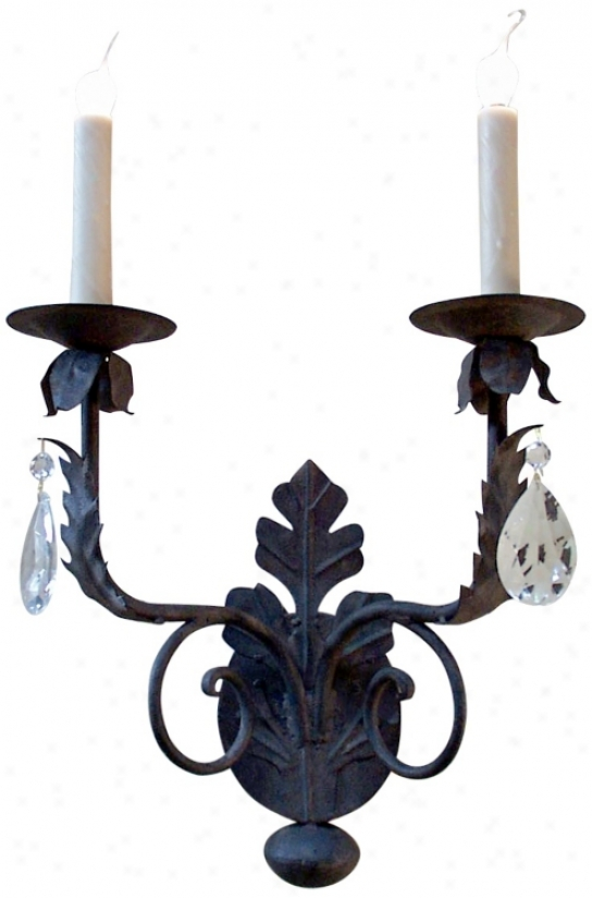 Laura Lee Michelle 2-light With Crystals Wall Sconce (t3393)