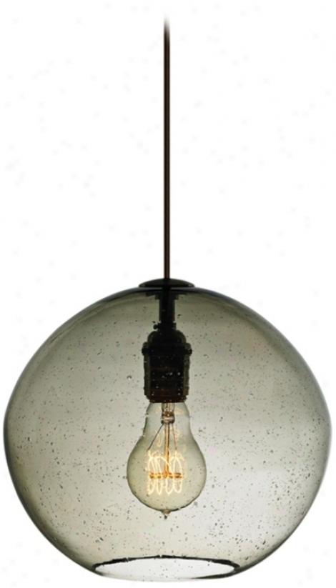 "Lbl Isla Smoke With  Bronze 9 3/4"" Wide Pendant Light (v2278)"
