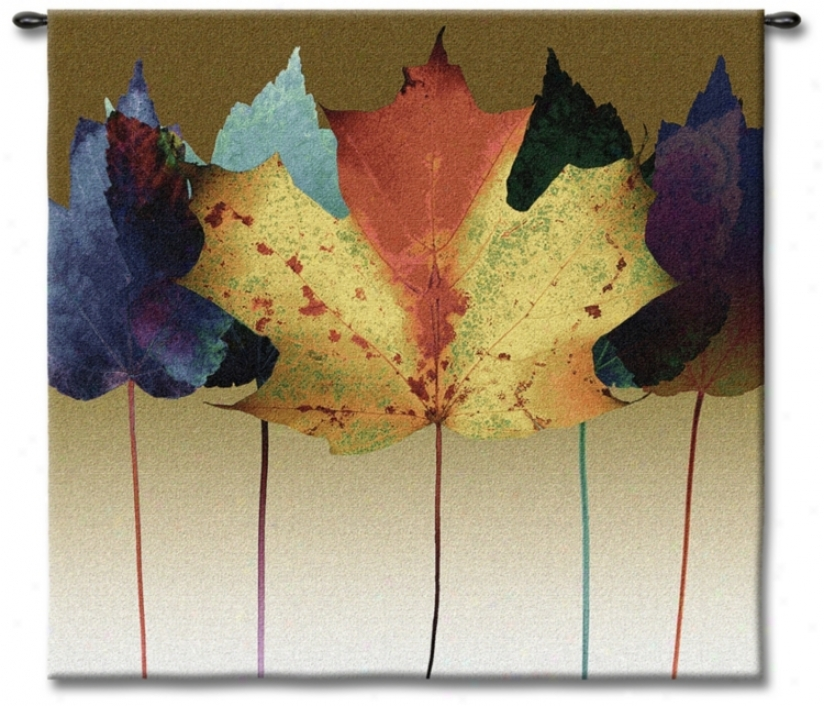 "Leaf Spectrum 53"" Square Wall Tapestry (j8742)"