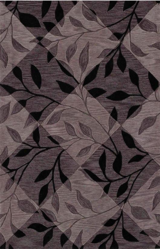 """Leaf Texture Murky 3'6""""x5'6"""" Area Rug (j6329)"""