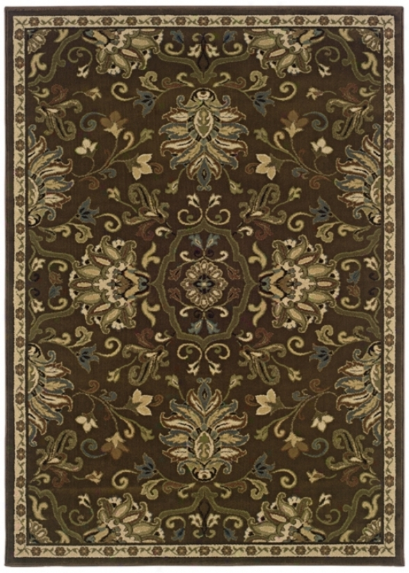 Leafy Artichoke Light Region Rug (j1864)