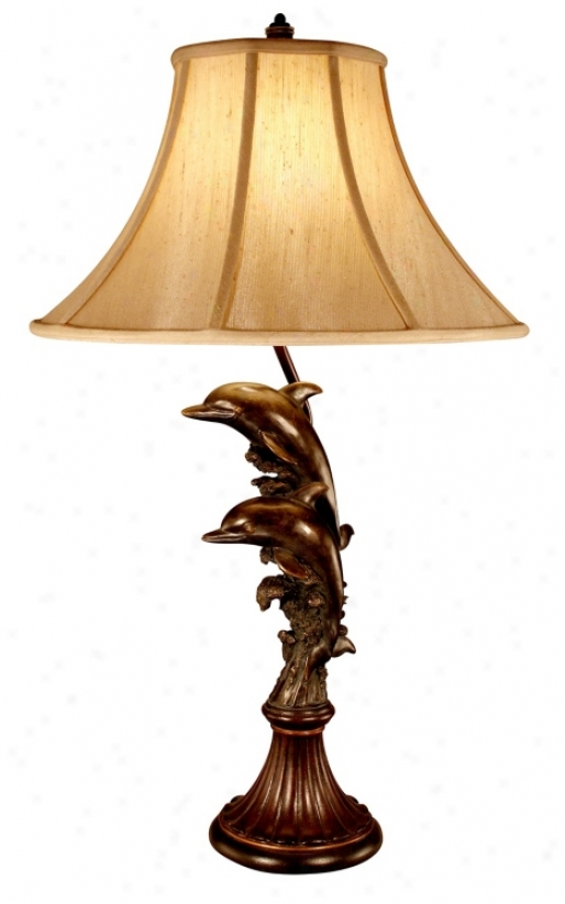 Leaping Dolphins Table Lamp (f6382)