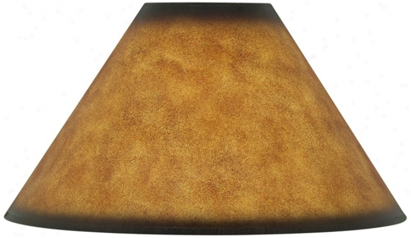 Leatherette Empire Shade 6x19x12 (spider) (25209)
