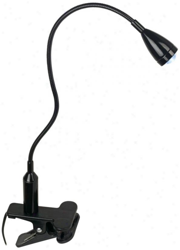 Led Adjustable Gooseneck Energy Efficietn Black Clip Light (r5899)