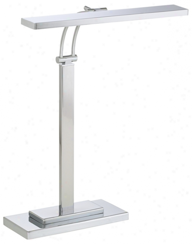 Led Banker's Chrome Finish Adjutsable Desk Lamp (k9324)