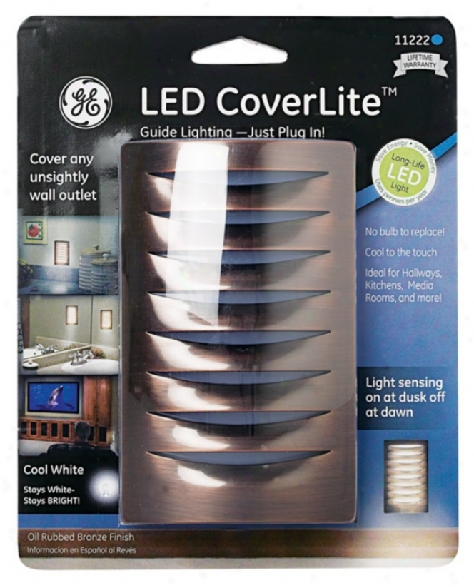 Led Coverlite Rubbed Bronze Finish Outlet Cover Night Light (61715)