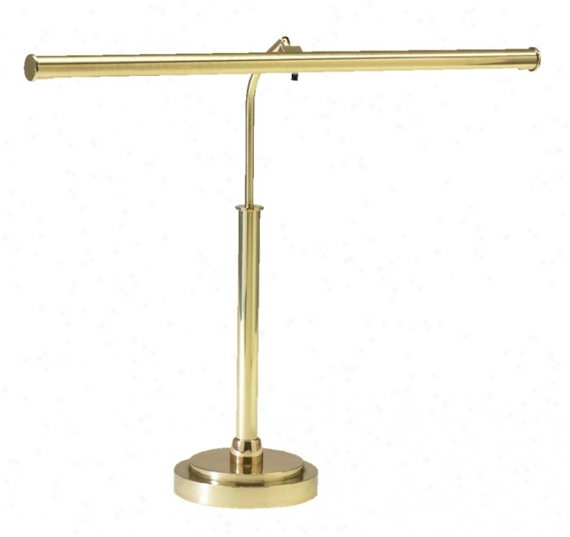 Led Piano Lamp In Polished Brass Finish (g2170)