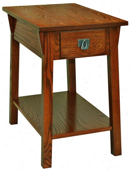 Leick Furniture Russet Fniish Mission Chairside Accent Table (p5264)