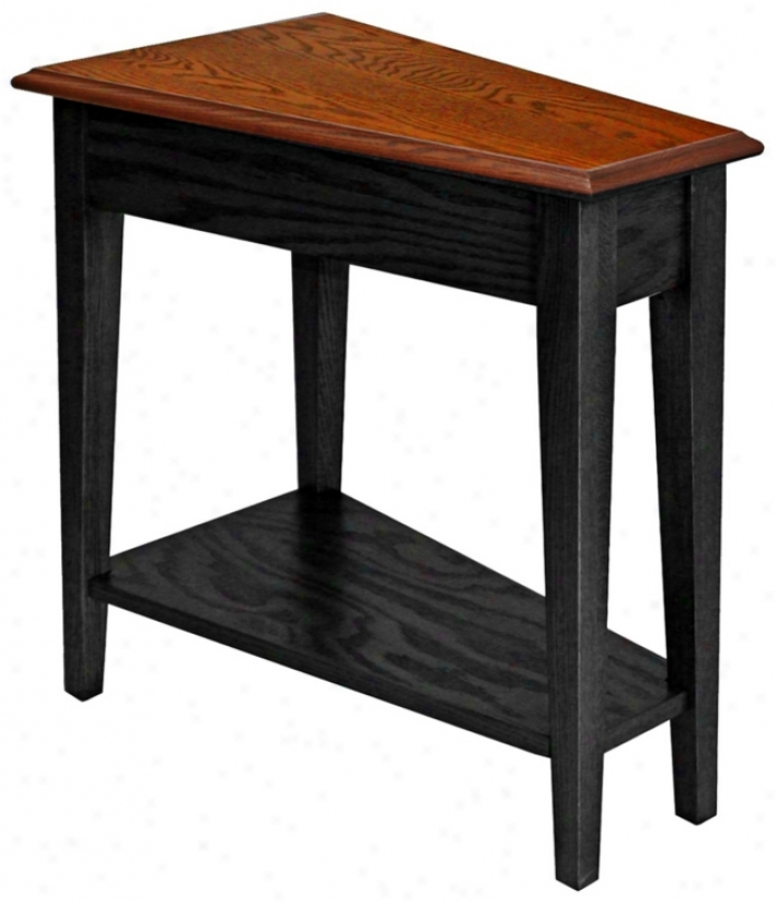 Leick Furniture Slate Finish Wedge Accent Table (p5244)