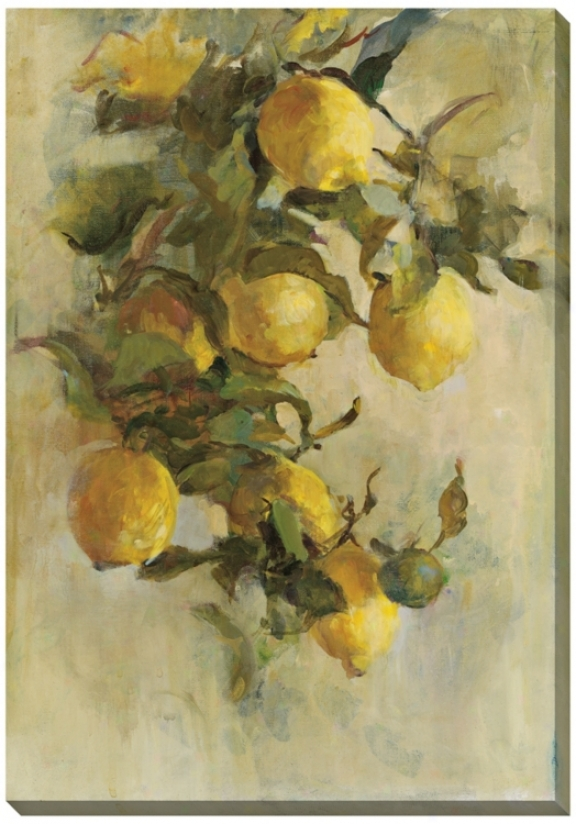 "Lemon Branch Limited Edition Giclee 33"" Remote Wall Art (l0342)"