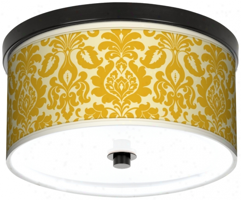 "Lemongrass Florence 10 1/4"" Wide Cfl Bronze Ceiling Lighht (k2833-k8647)"