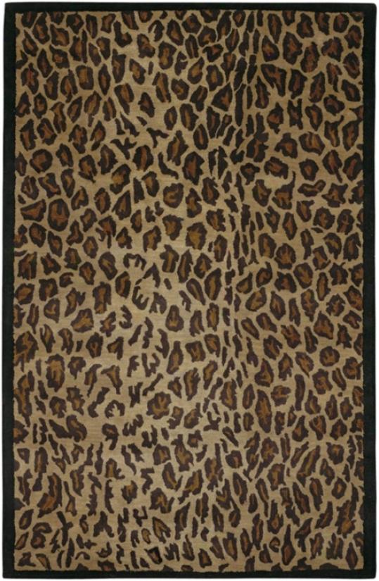 Leopard 9'x13' New Zealand Wool Area Rug (10961)