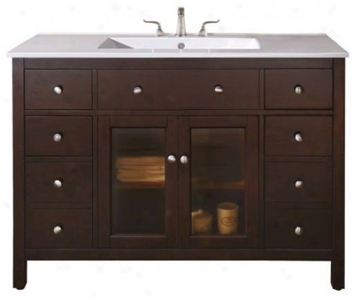"Lexing5on Light Espresso 49"" Wide Sink Vanity (r6948)"