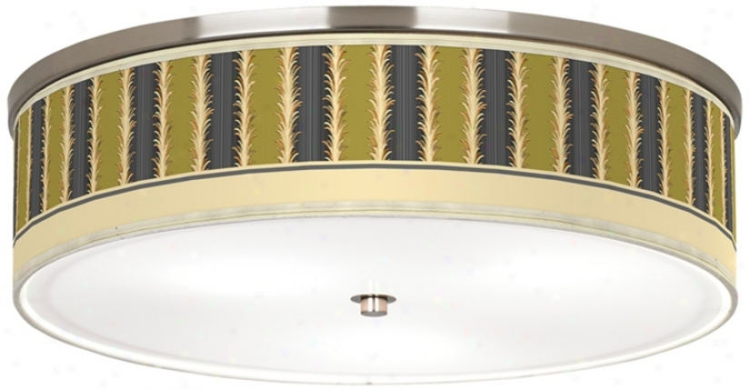 "Lexington Stripe Avocado Nickel 20 1/4"" Wide Ceiling Light (j9213-k1591)"
