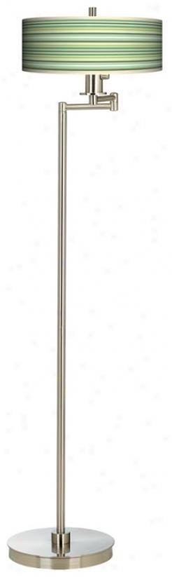 Lexington Stripe Energy Efficient Swing Arm FloorL amp (13024-k3550)