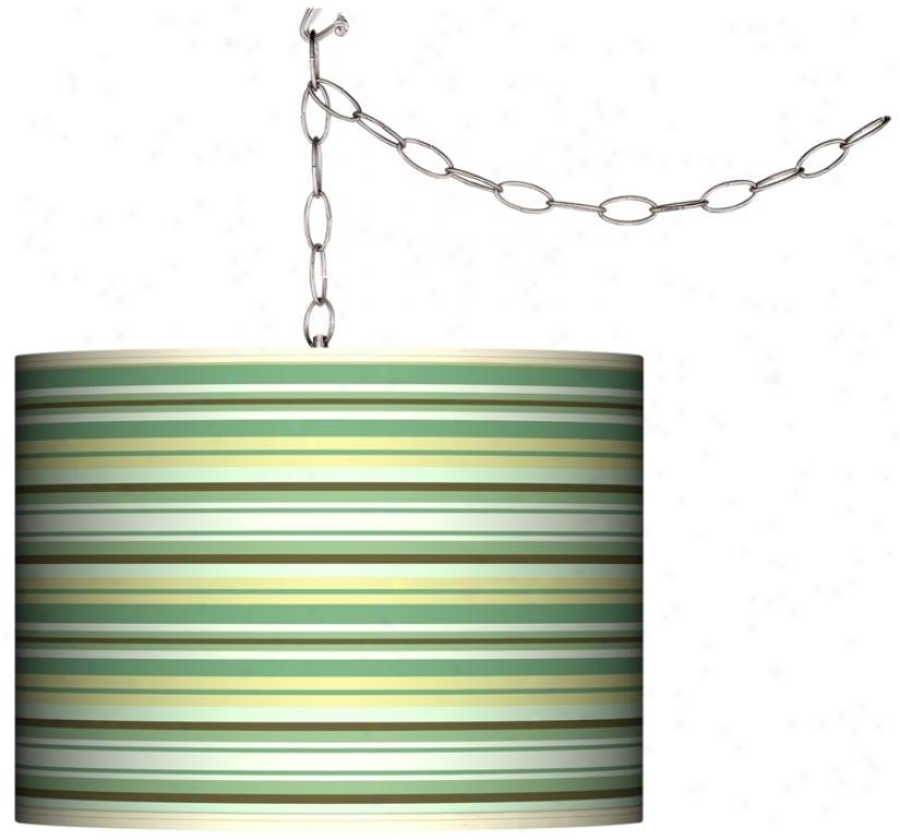 Lexington Stripe Swag Style Plug-in Chandelier (f9542-k3486)