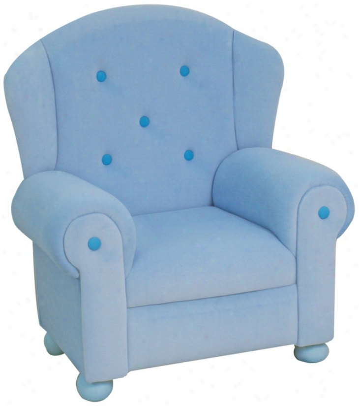 Light Blue Plush Kids Arm Seat of justice (p5380)