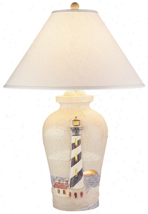 Lighthouse With Darkness Light Table Lamp (58668)