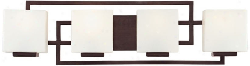 "Lighting On hTe Square Bronze 28 1/2"" Wide Bath Wall Light (m9189)"