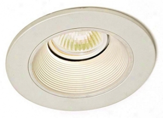 "Lightolier 3-1/2"" Adjustable White Baffle Recessed Trim (47472)"