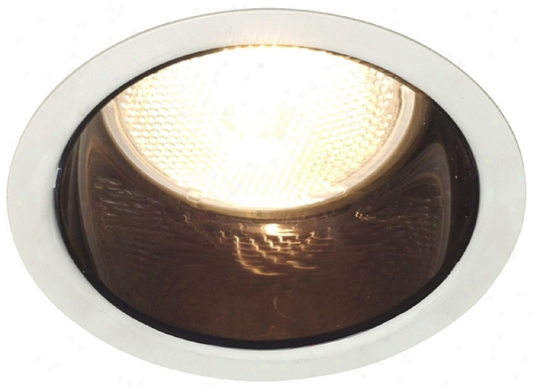 "Lightolier 4"" Fill Voltage Black Alzak Recessed Light Trim (28511)"