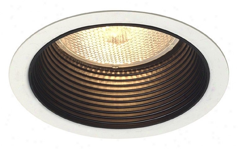 "Lightolier 4"" Line Voltage Step Baffle Recessed Trim (12579)"