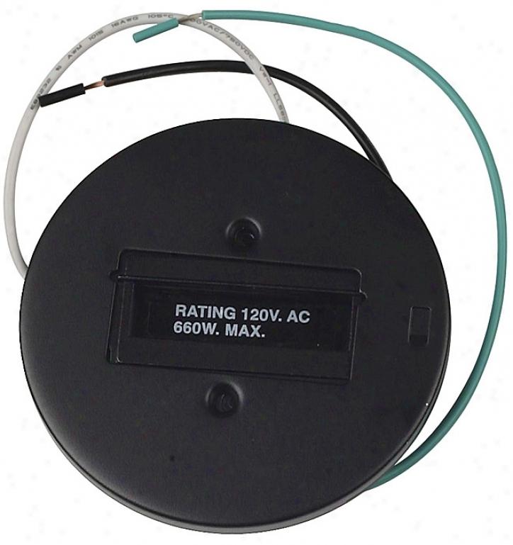 Lightolier Black Round Monopoint (14294)