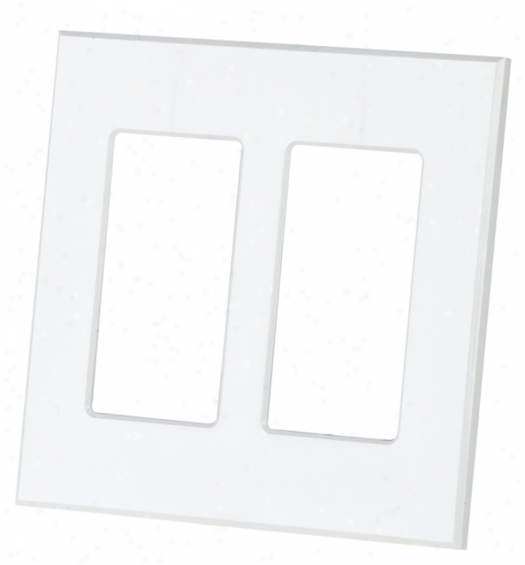 Lightolier Double Exit Screwless Wall Plate In Ivor y(17635)