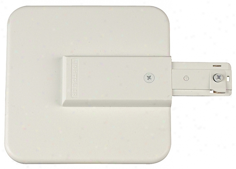 Lightolier Live End Canopy Feed In White (38097)
