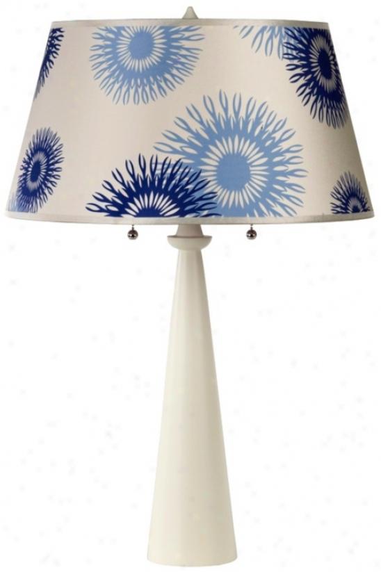 Lights Up! Dismal Cornflower Nikki Antique Bronze Table Lamp (t5216)