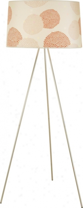 Lights Up! Brushed Nickel Red Mumm Tripod Floor Lam p(44537)
