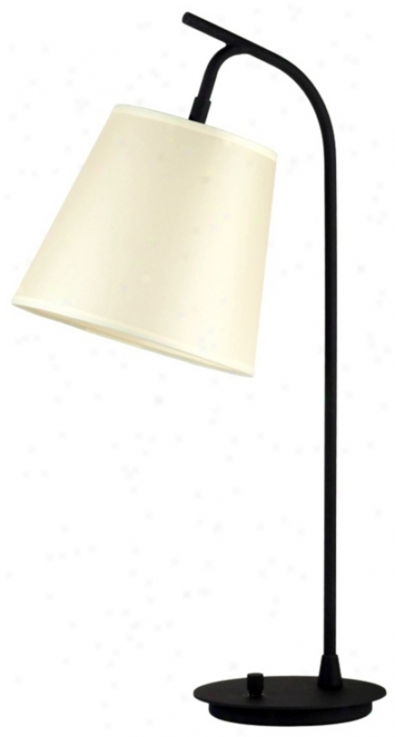 Lights Up! Chamois Onikn Skin Paper Shade Walked Table Lamp (t3482)