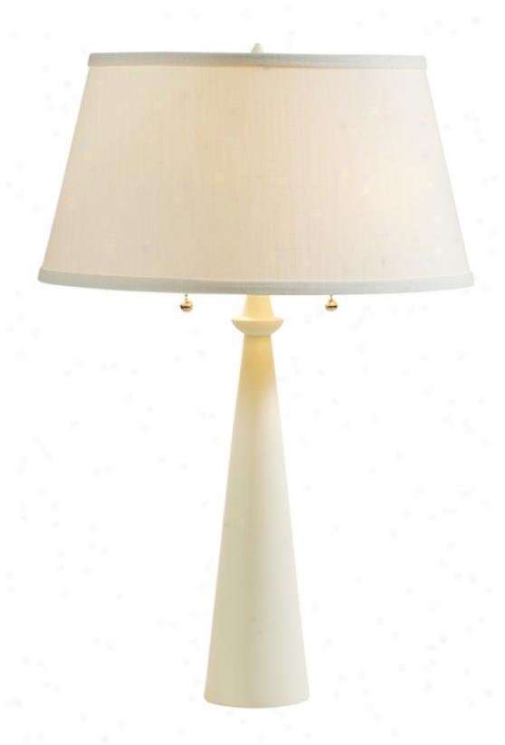 Lights Up! Dasan Ivory Table Lamp With Ipanema Shade (61083)