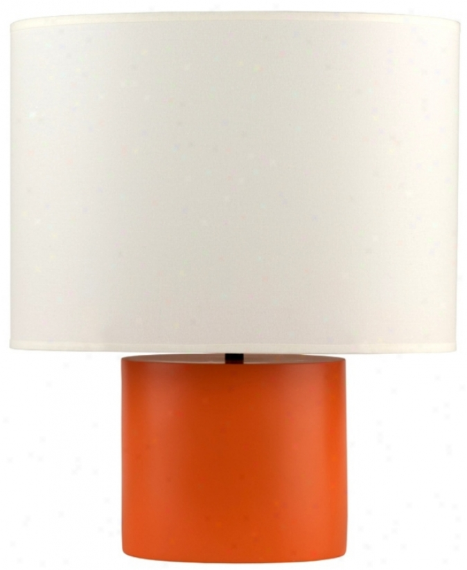 Lights Up! Devo Oval Carrot Table Lamp (t5182)